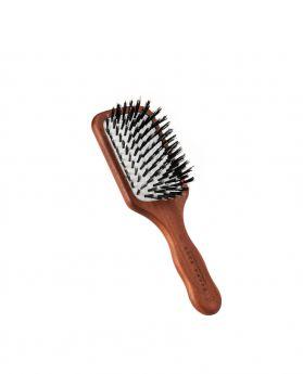 豬鬃單絲尼龍紅木方形旅行髮刷
