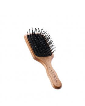 耐熱刷針方形紅木旅行髮刷
