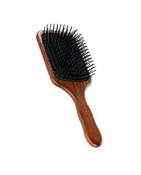 耐熱刷針方形紅木髮刷